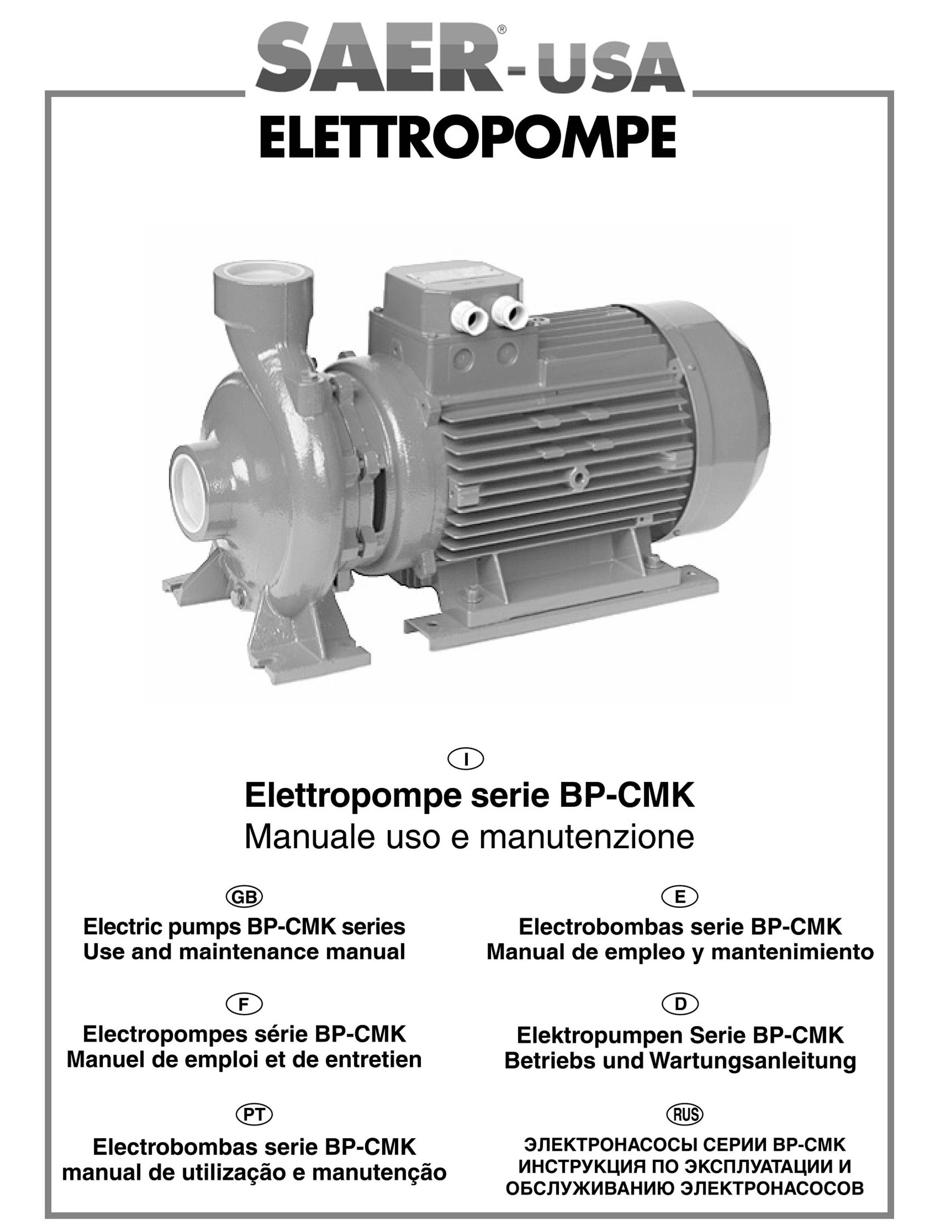 BP-CMK -- SAER-USA water domestic pumps- water pumps in usa