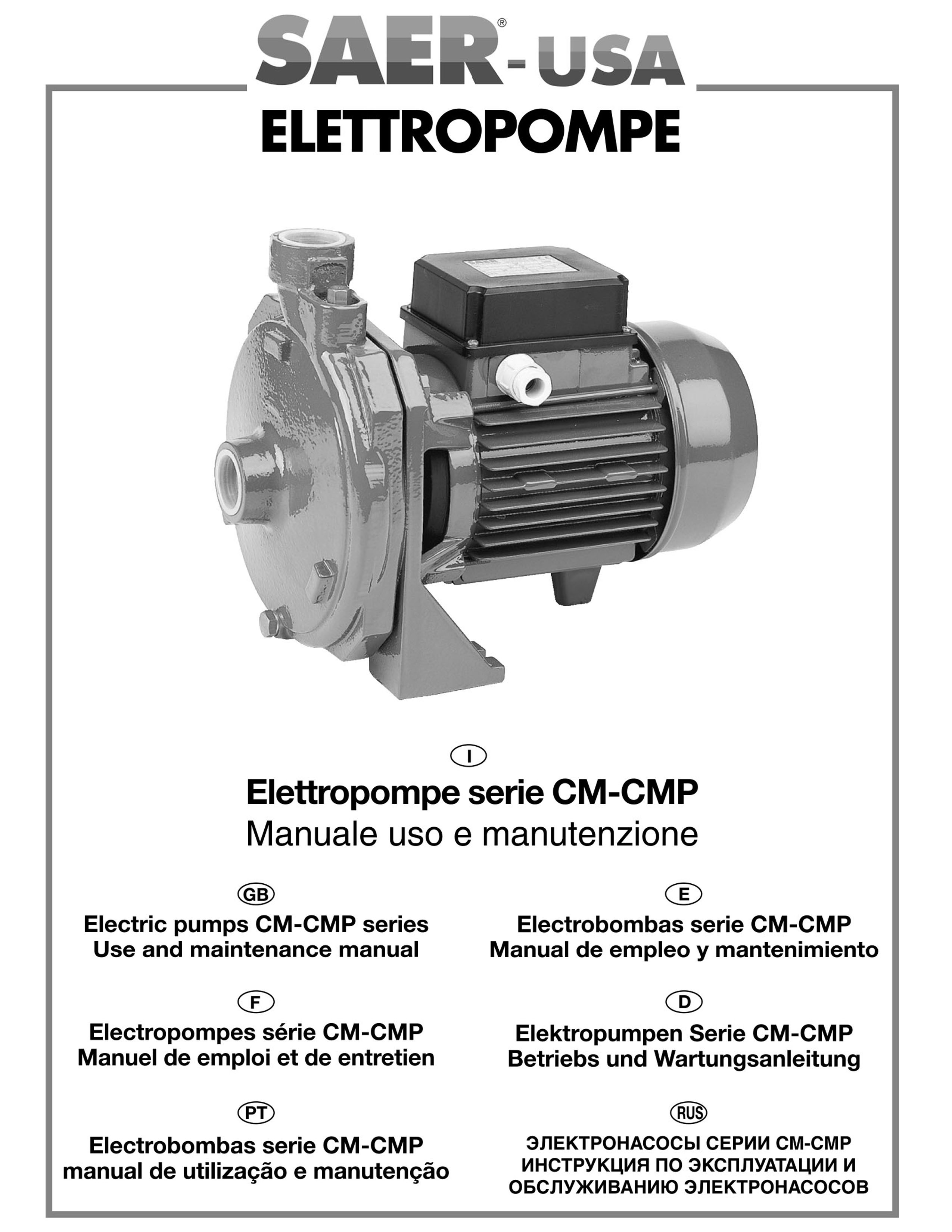 CM-CMP series SAER-USA water domestic pumps- water pumps in usa