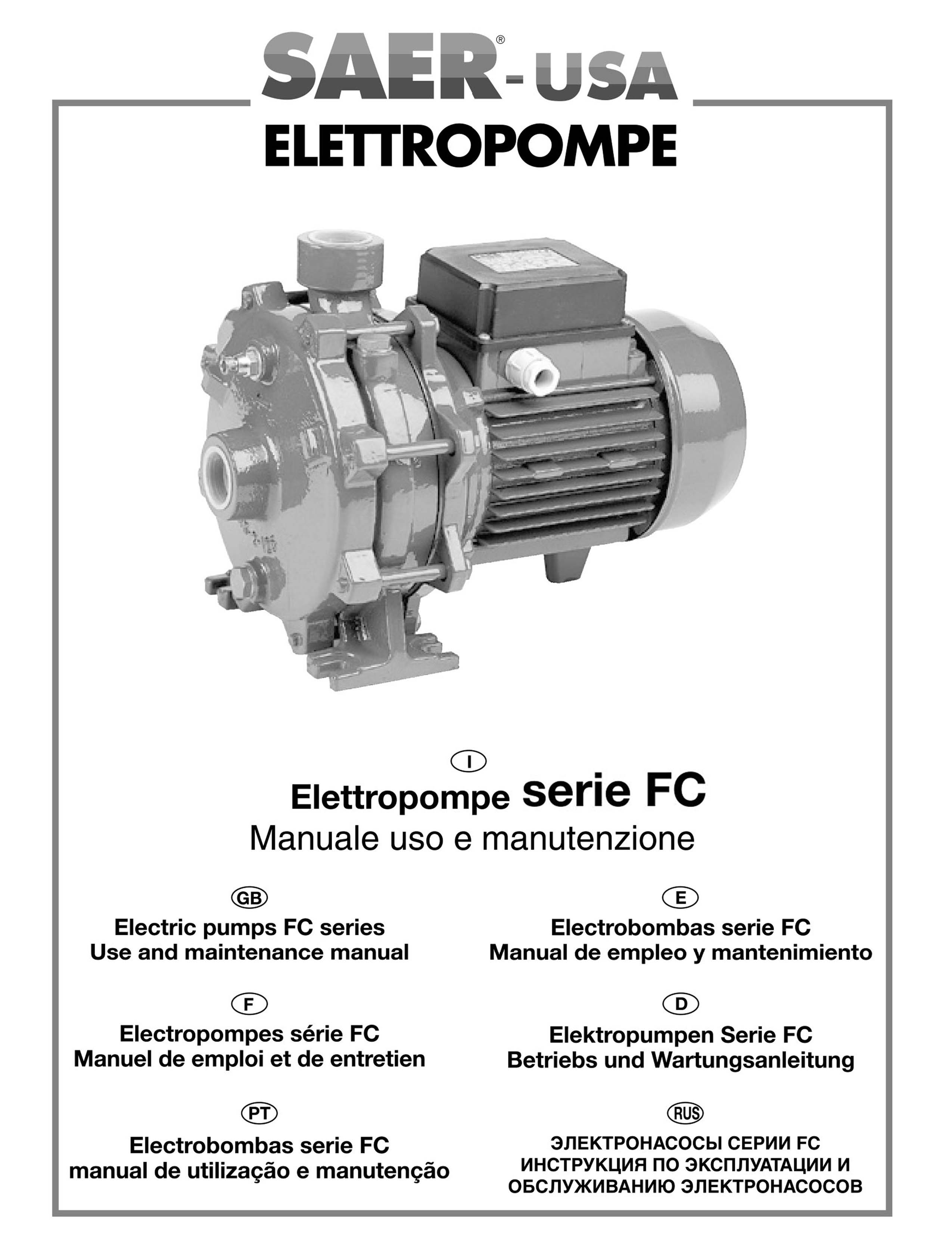 FC series SAER-USA water domestic pumps- water pumps in usa