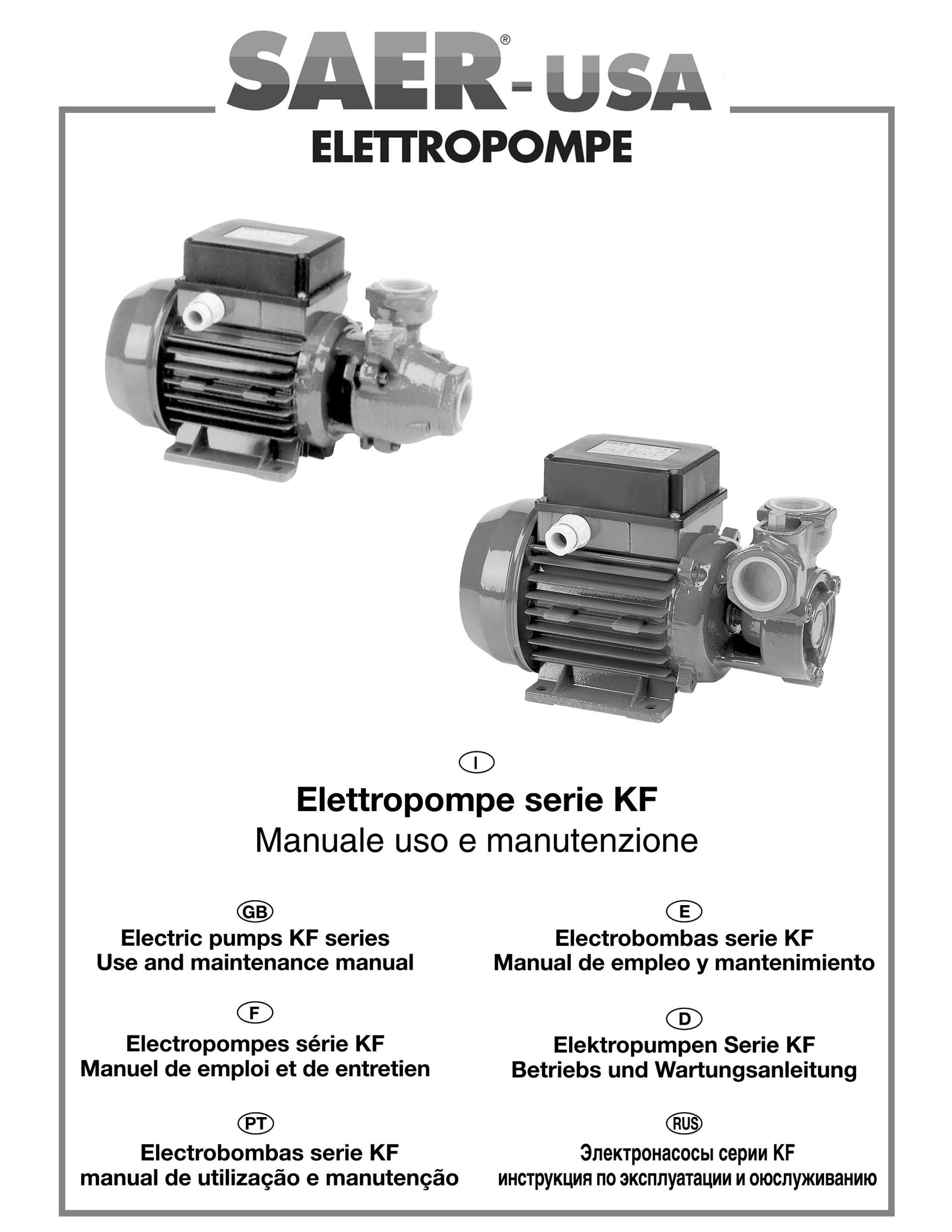 KF series SAER-USA water domestic pumps- water pumps in usa