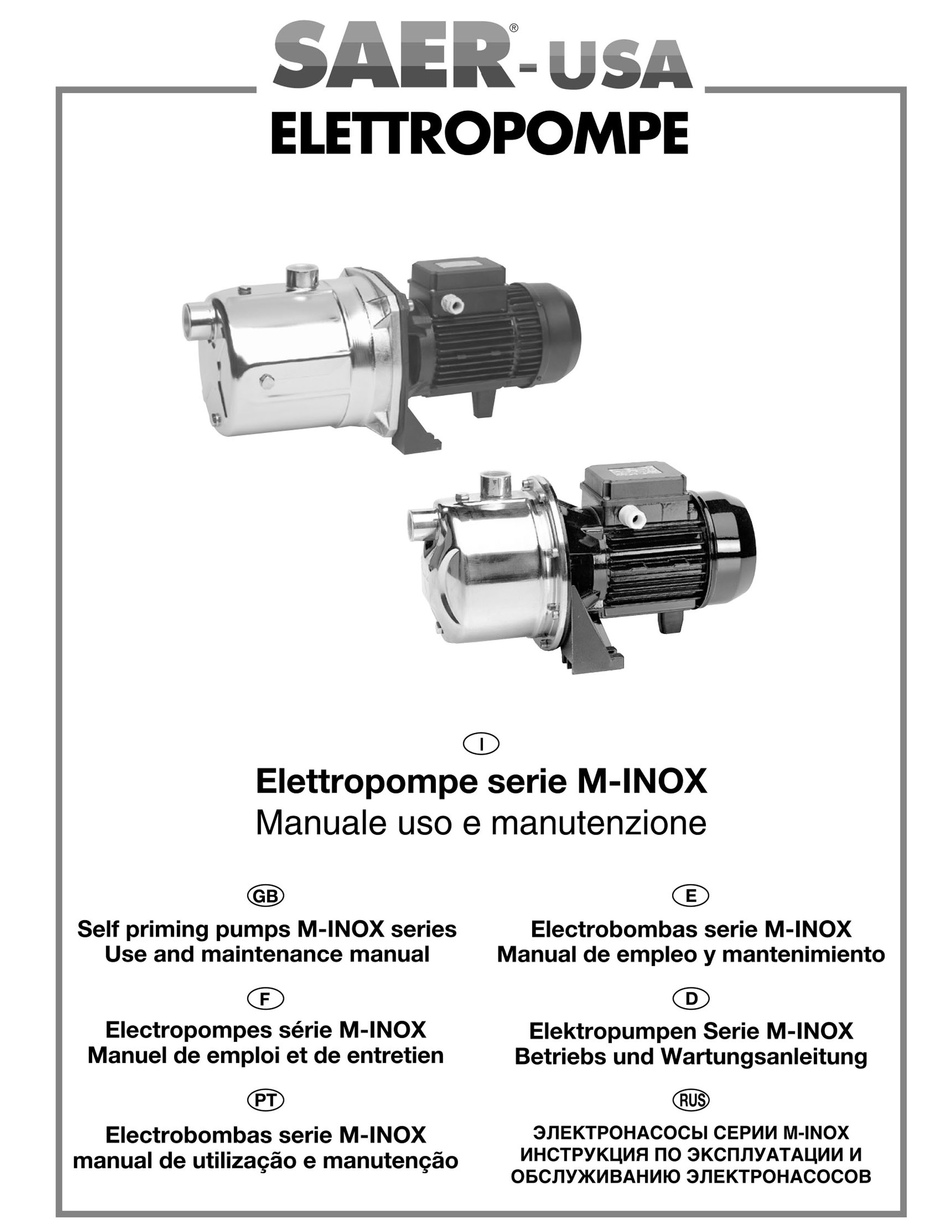 M-jet-inox SAER-USA water domestic pumps- water pumps in usa