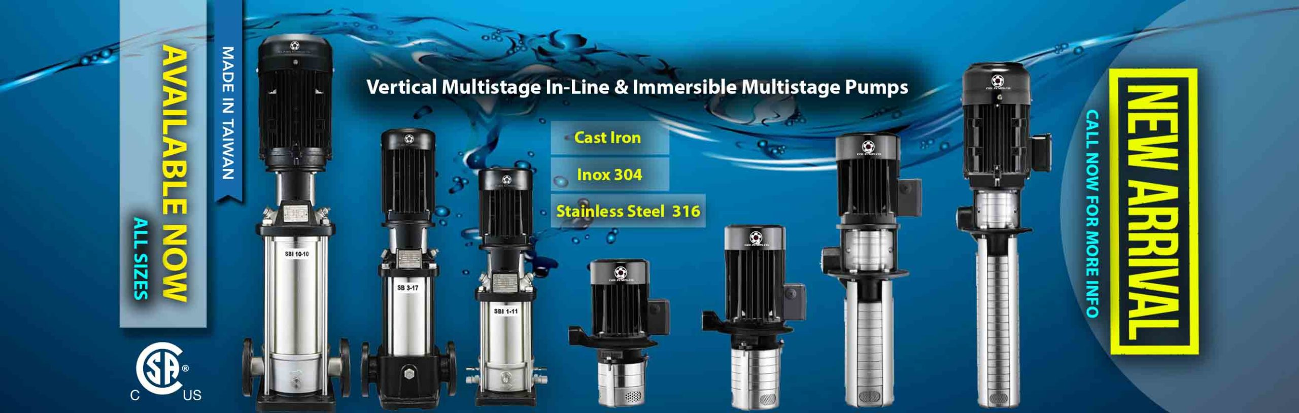 Gol Pumps-Pumpdepot-Multistage Vertical Pumps and immersible pumps
