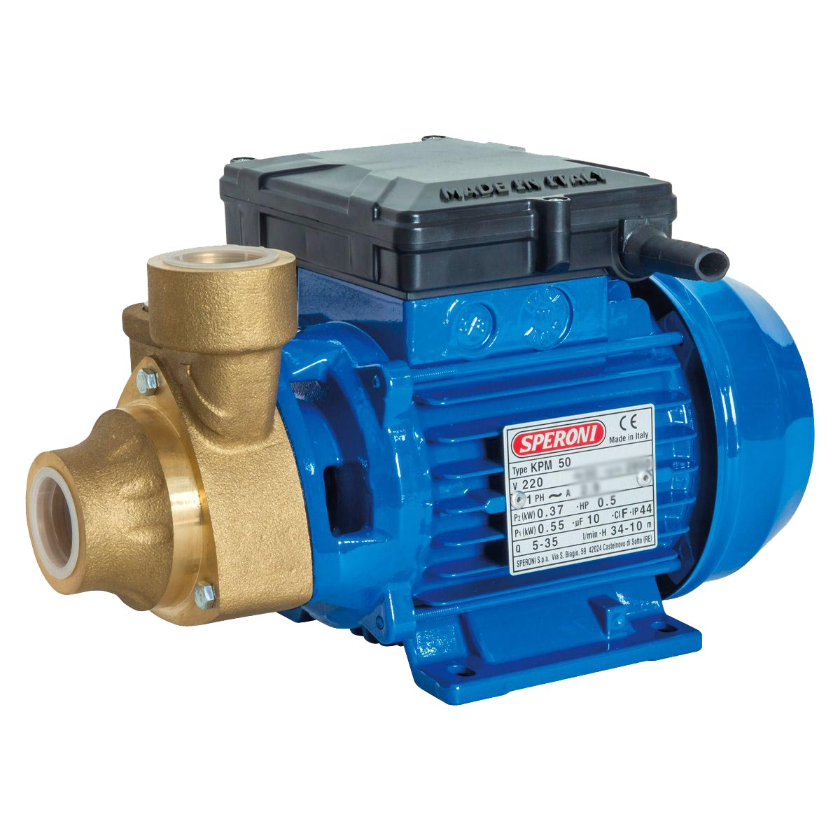 SPERONI KPM50 BR, Booster Water Pump for Clear water