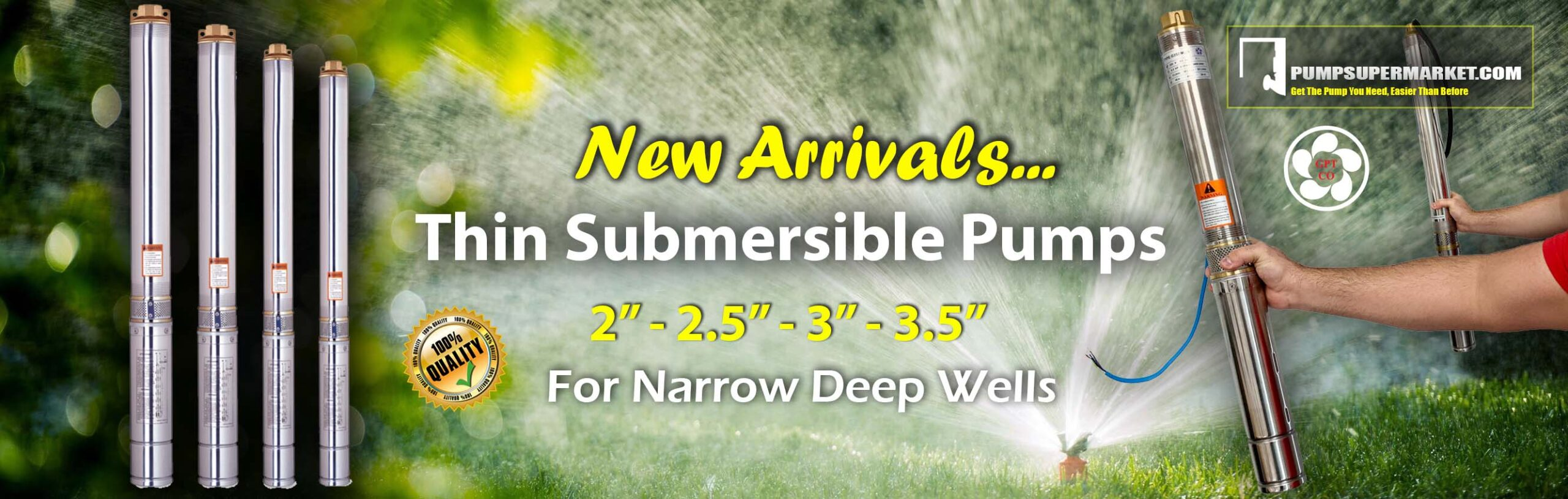 Thin Submersible Pumps